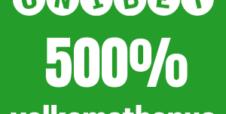 Unibet 500 % velkomstbonus opptil 500 kr