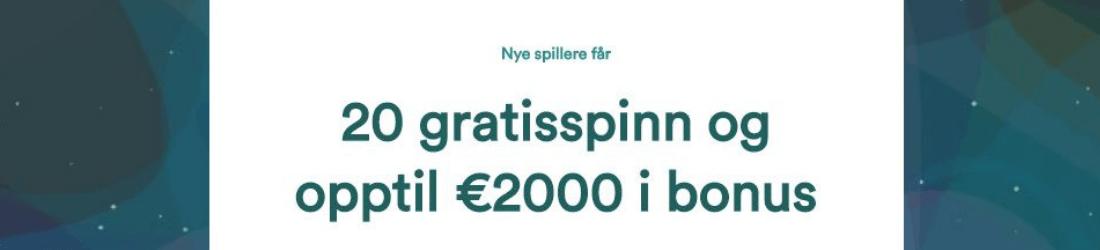 casumo 20 000 kr bonus + 20 free spins