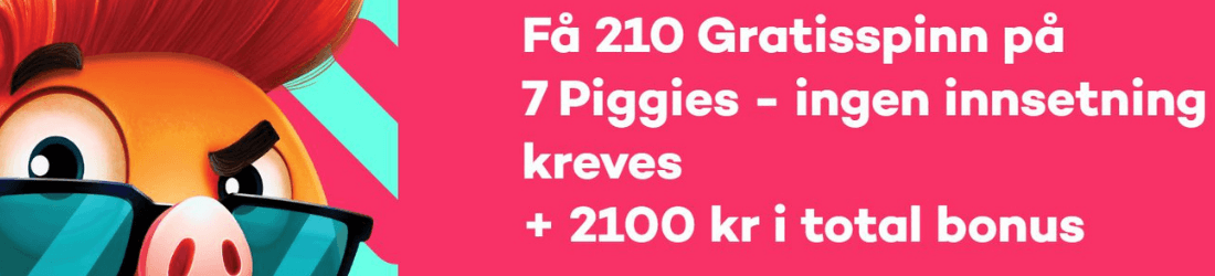 21 210 spins + 2100 kr bonus