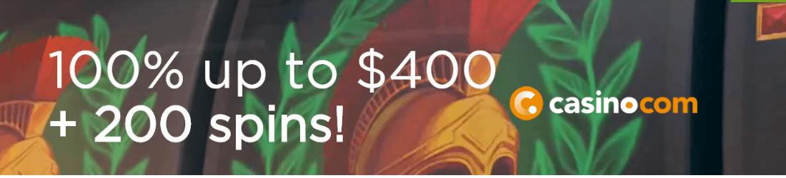 casino.com 4000 kr bonus + 200 free spins