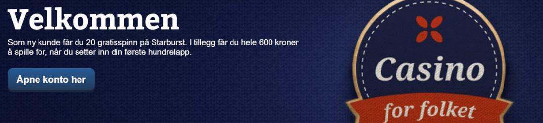 folkeautomaten 500 kr bonus + 20 spins