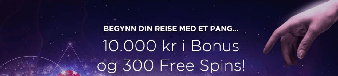 genesis 10 000 kr bonus + 300 spins