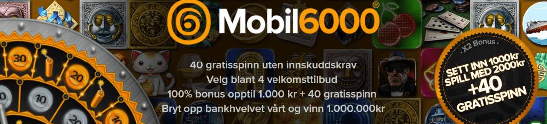 mobil6000 1000 kr bonus + 40 free spins