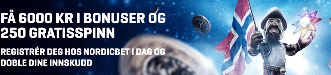 nordicbet + 6000 kr bonus 25 free spins