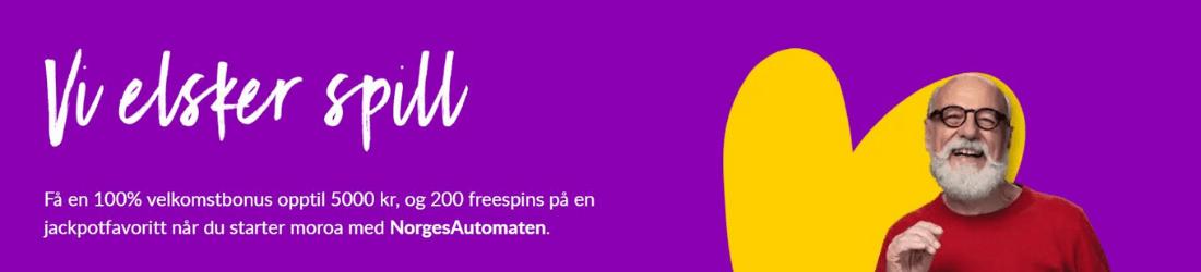 norgesautomaten 5000 kr bonus + 200 free spins