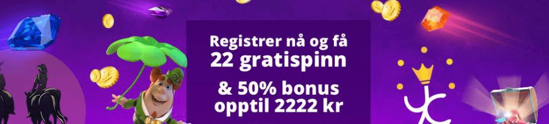 yako 2222 kr bonus + 22 free spins