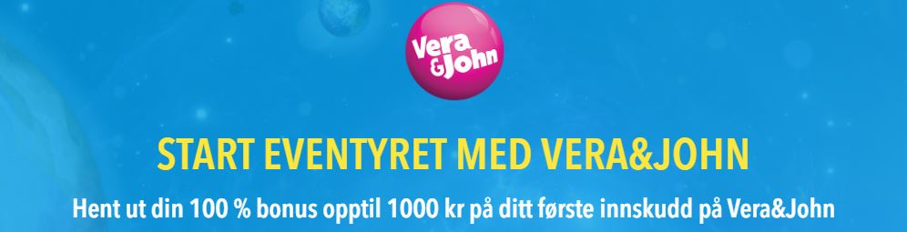 vera jon 100% bonus opp til 1000 kr