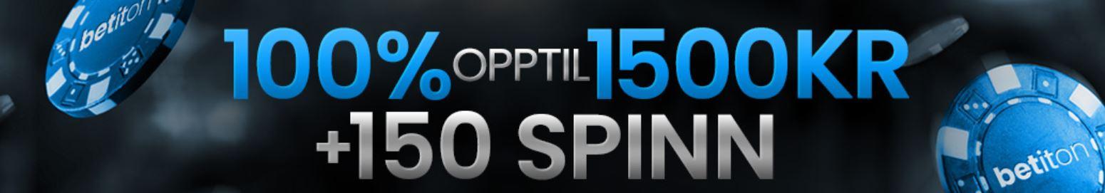 betiton 1500 kr bonus + 150 spins