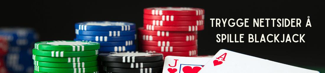 trygge nettsider å spille blackjack