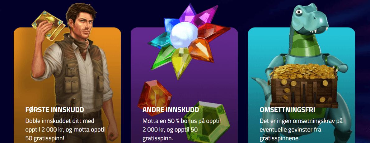 luckydino NO 4000 kr bonus og 120 freespins