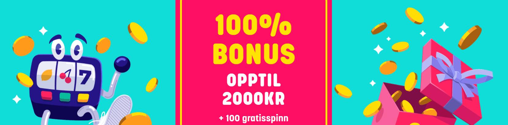 caxino no 2000 kr bonus og 100 free spins
