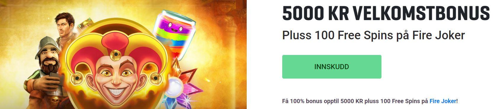 guts 5000 kr bonus og 100 spins