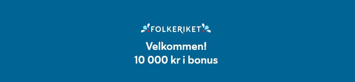folkekriket NO 10 000 kr bonus