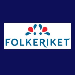 folkeriket blå logo