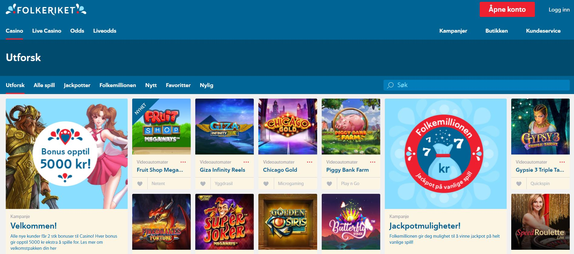 casino lobby folkeriket