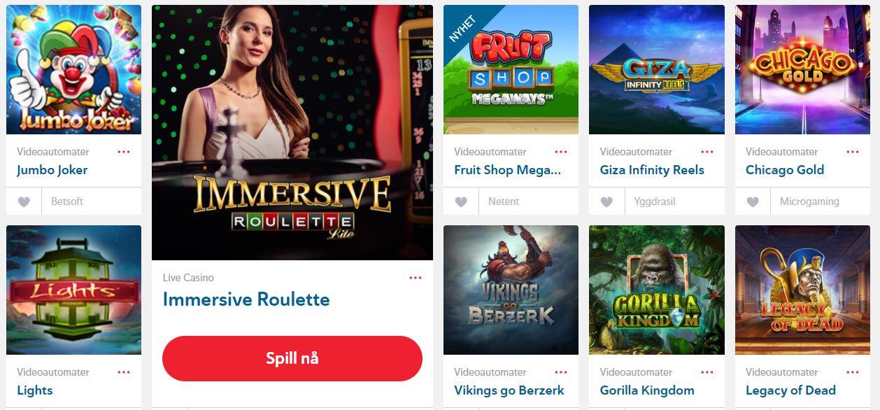 Folkeriket NO casinospill